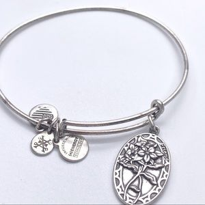 Alex and Ani Friend Friends Floral Bangle Bracelet